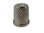Rhythm Patch Nickel Plated Brass Thimble, Dome Top, Flat Collar, 19 mm