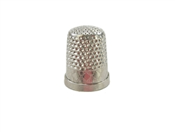 Rhythm Patch Nickel Plated Brass Diamond Pattern Thimble, Dome Top, Flat Collar, 16 mm