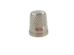 Rhythm Patch Nickel Plated Brass Diamond Pattern Thimble, Dome Top, Flat Collar, 17 mm