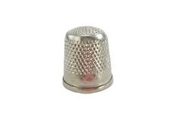 Rhythm Patch Nickel Plated Brass Diamond Pattern Thimble, Dome Top, Flat Collar, 20 mm