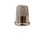 Rhythm Patch Nickel Plated Steel Thimble, Dome Top, Round Collar, 13 mm