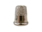 Rhythm Patch Nickel Plated Steel Thimble, Dome Top, Round Collar, 14 mm