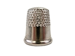 Rhythm Patch Nickel Plated Steel Thimble, Dome Top, Round Collar, 14.5 mm