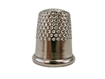 Rhythm Patch Nickel Plated Steel Thimble, Dome Top, Round Collar, 15 mm