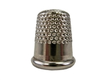 Rhythm Patch Nickel Plated Steel Thimble, Dome Top, Round Collar, 16 mm