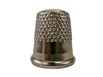 Rhythm Patch Nickel Plated Steel Thimble, Dome Top, Round Collar, 17 mm