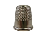 Rhythm Patch Nickel Plated Steel Thimble, Dome Top, Round Collar, 18 mm