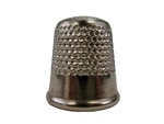 Rhythm Patch Nickel Plated Steel Thimble, Dome Top, Round Collar, 19 mm