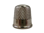 Rhythm Patch Nickel Plated Steel Thimble, Dome Top, Round Collar, 20 mm
