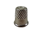 "Rhythm Patch Nickel Plated Steel Thimble, Recessed-Top ""Quilter"", Round Collar, 13 mm"
