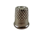 "Rhythm Patch Nickel Plated Steel Thimble, Recessed-Top ""Quilter"", Round Collar, 14 mm"