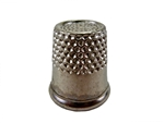 "Rhythm Patch Nickel Plated Steel Thimble, Recessed-Top ""Quilter"", Round Collar, 14.5 mm"