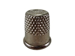 "Rhythm Patch Nickel Plated Steel Thimble, Recessed-Top ""Quilter"", Round Collar, 15 mm"