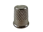 "Rhythm Patch Nickel Plated Steel Thimble, Recessed-Top ""Quilter"", Round Collar, 16 mm"