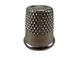 "Rhythm Patch Nickel Plated Steel Thimble, Recessed-Top ""Quilter"", Round Collar, 17 mm"
