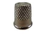 "Rhythm Patch Nickel Plated Steel Thimble, Recessed-Top ""Quilter"", Round Collar, 18 mm"