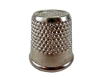 "Rhythm Patch Nickel Plated Steel Thimble, Recessed-Top ""Quilter"", Round Collar, 19 mm"