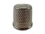 "Rhythm Patch Nickel Plated Steel Thimble, Recessed-Top ""Quilter"", Round Collar, 20 mm"