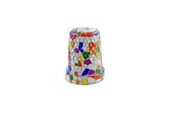 14 mm Rhythm Patch Enameled Steel Spring Colors Thimble, Dome Top, Flat Collar