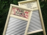 Dubl Handi Spiral Stainless Steel Washboard, pail size