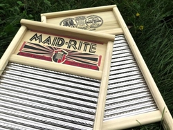 Maid-Rite Spiral Stainless Steel Washboard, family size