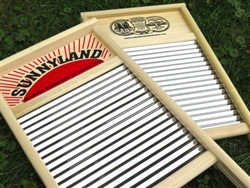 Sunnyland Wavy Stainless Steel Washboard, family size