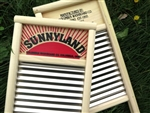 Sunnyland Wavy Stainless Steel Washboard, pail size