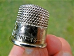 Heavy Nickel Plated Brass Thimbles