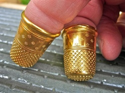 Heavy solid brass Perlac thimble