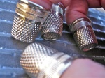 "Recessed ""Quilter"" Nickel Plated Steel Thimbles"