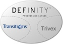 Essilor Definity Trivex Transitions VI
