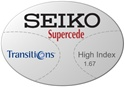 Seiko Supercede High Index 1.67 Transitions