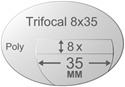 Trifocal Flat Top 8X35 Polycarbonate