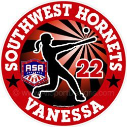 ASA Softball Decals Stickers Clings Magnets