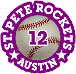 baseball decals stickers clings & magnets