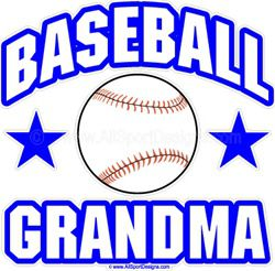 Baseball GRANDMA Window Decals Stickers or Magnets