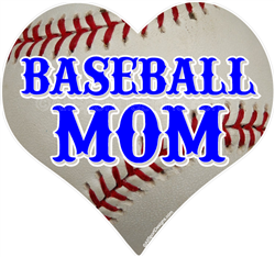 Baseball MOM car window sticker decal clings & magnets