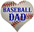 Baseball DAD car window sticker decal clings & magnets