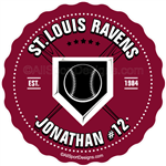 baseball stickers clings decals & magnets