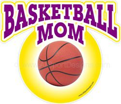 Basketball window sticker decal clings & magnets