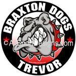 Bulldog Car Window Decals Stickers Clings Magnets Wall Decals