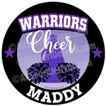 cheerleading stickers decals clings & magnets