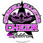 Cheerleading car window stickers decals magnets