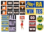 "Custom Rectangle Cheer Signs 18"" x 24"""
