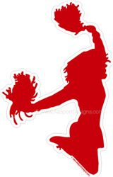 cheerleading car window sticker decal magnet wall decal