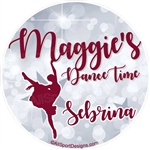 Dance stickers decals clings or magnets.  Main Background can be SILVER OR GOLD print.