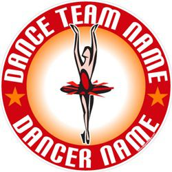dance window stickers decals clings & magnets