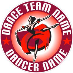 dance stickers decals clings & magnets