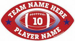 Football window stickers decals clings & magnets
