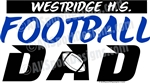 Football DAD car sport stickers decals magnets